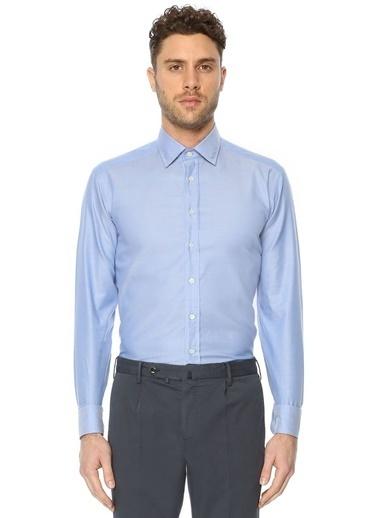 Etro Uzun Kollu Klasik Gömlek Mavi